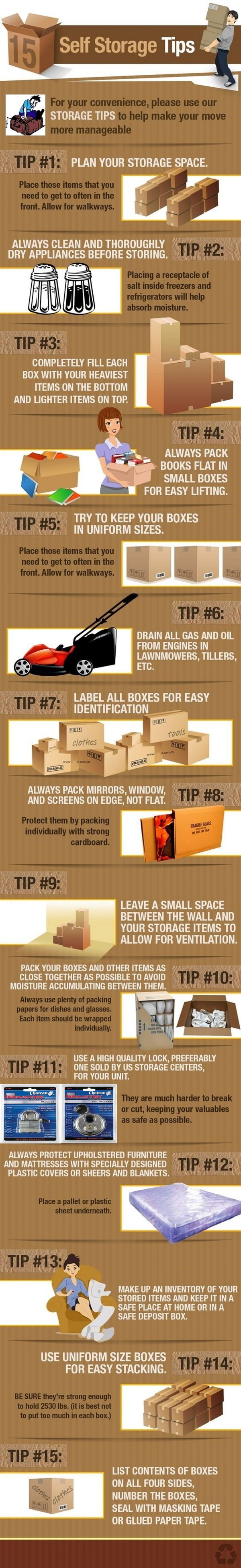 Storage unit packing tips infographic