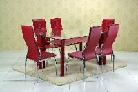 D3250 Red Table, Chair
