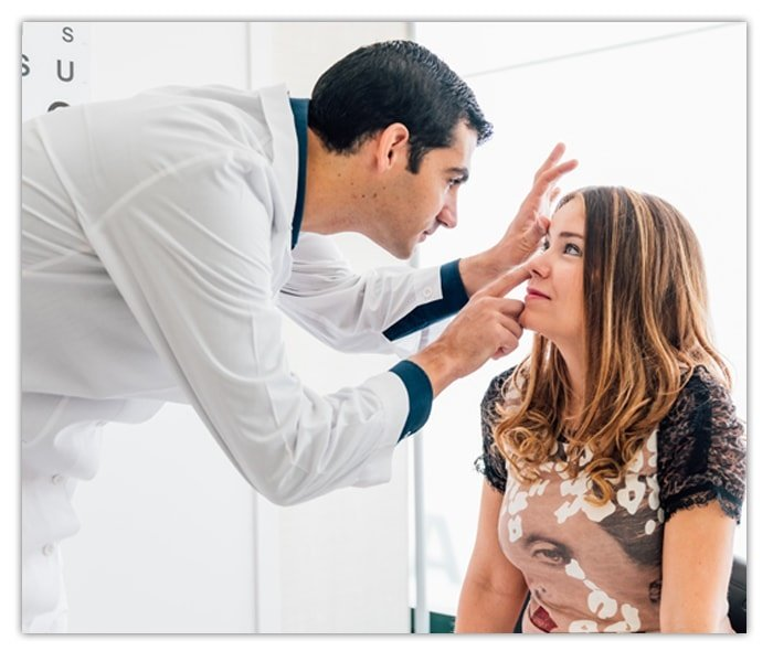 Eyes Examined by an Eye Doctor