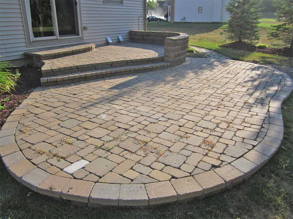 Old Paver Patio
