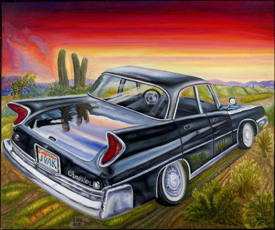 1960 Chrysler Windsor    30x36 Original Oil              $3850               2014