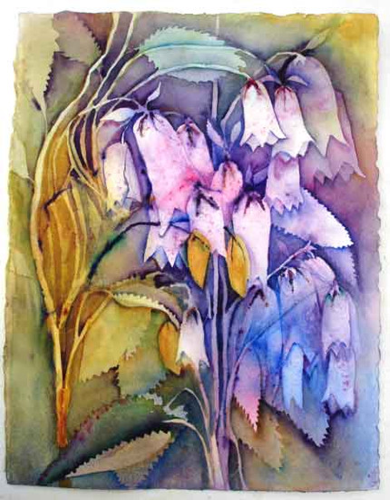 Cascading Bells .. Watercolour