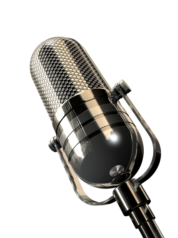 Microphone on white background||||