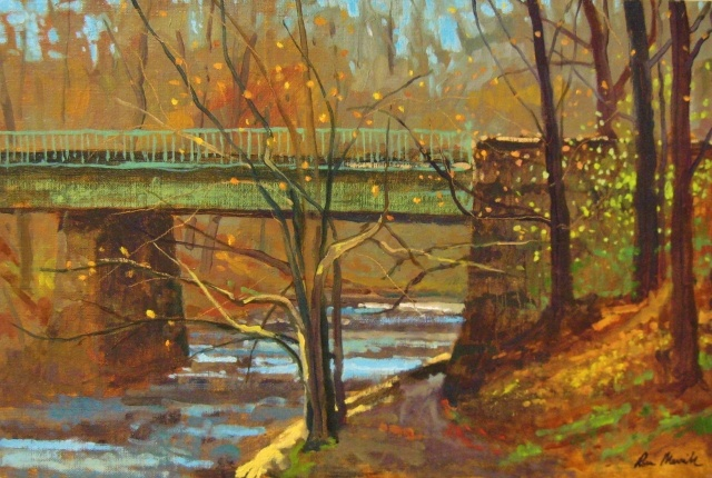 "Ross Merrill, Tilden Br., Rock Creek Park, 16"" x 24"" Oil"