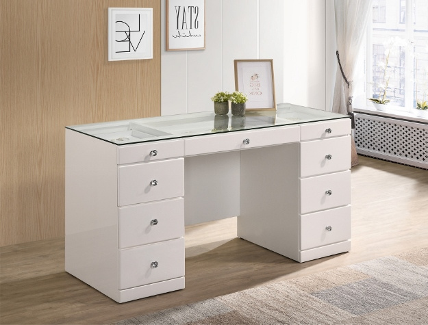 B4850WH-91 Vanity Desk White