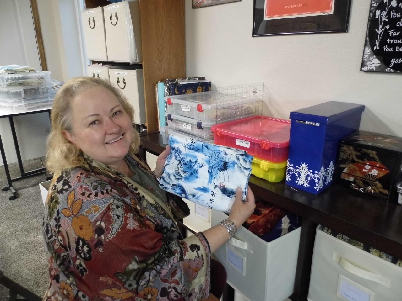 Sheila With Fabrics