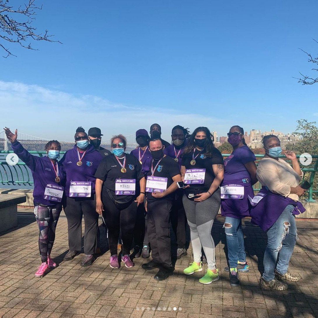 We did it! March of Dimes walk on a beautiful summer day