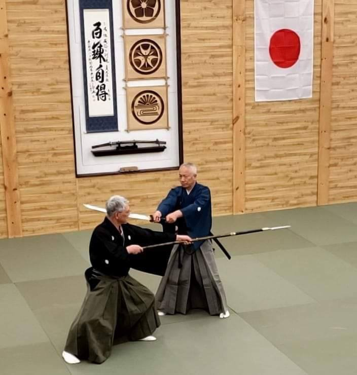 Taikai Embu - Nomura Sensei and Takano Sensei sword vs. spear.