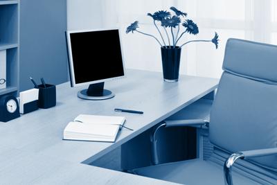 Office with Desktop Computer    