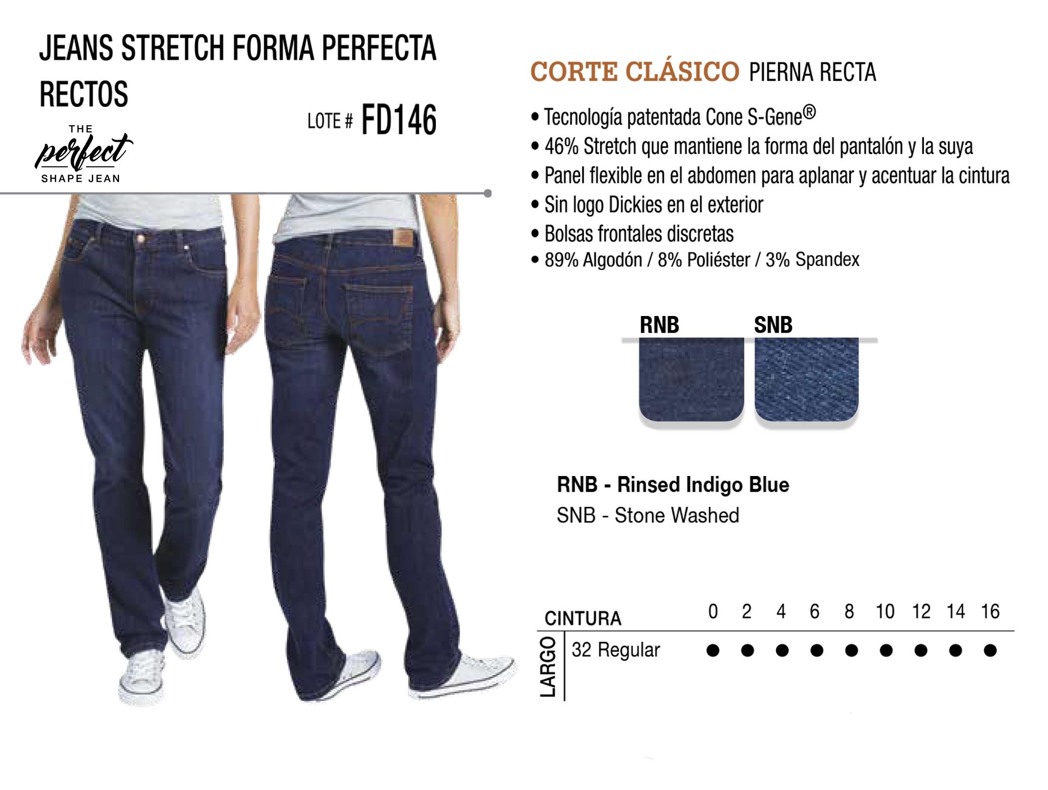 Jeans Stretch Forma Perfecta. Corte Clásico. FD146.