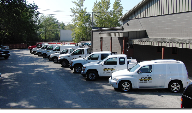CCT trucks lined up||||
