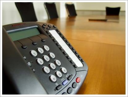 Speaker phone on conference room||||