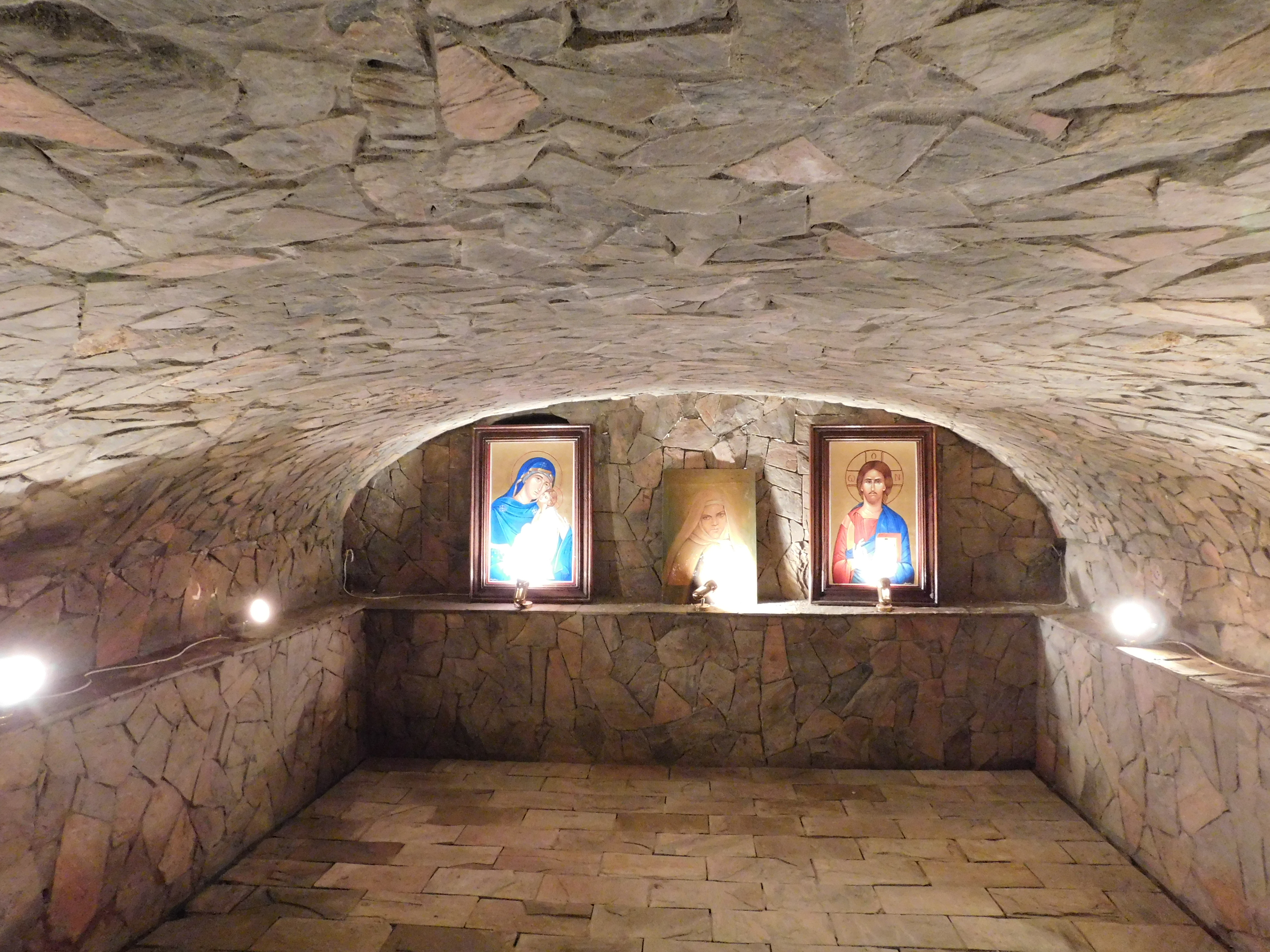 Cave under the Church in  Alexandria where St. Mary was healed