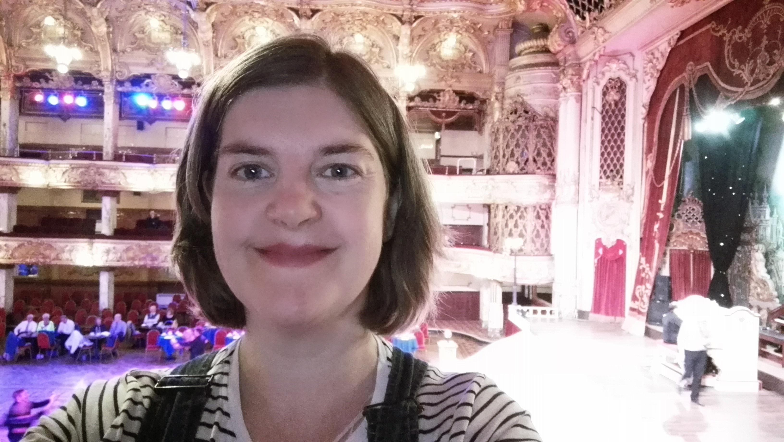 Susan Brownrigg at the Blackpool Tower Ballroom