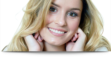 Lady with shining white teeth    
