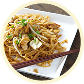Fried Rice Noodles With Pork