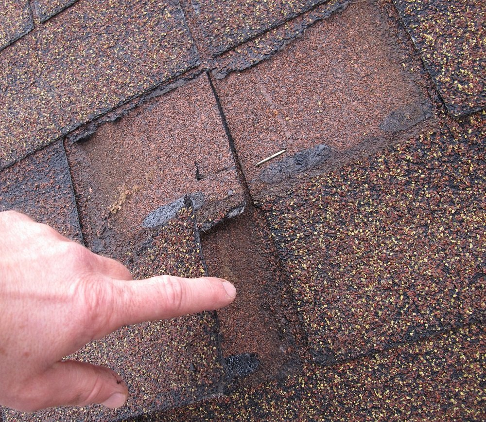 Broken shingle