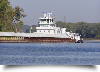 Towboat on water||||