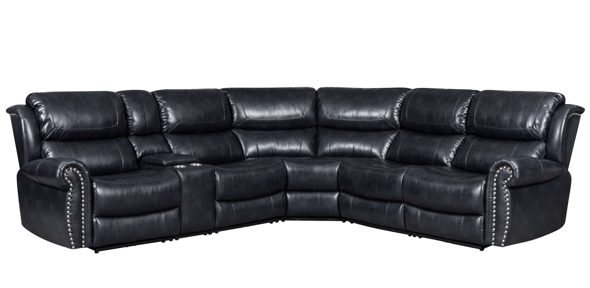 Navy Reclining Sectional