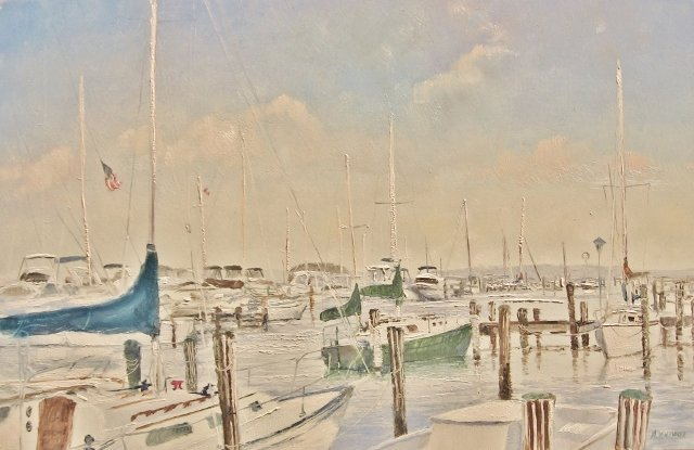 8. Trappe Maryland Docks, 8x12 oil on panel