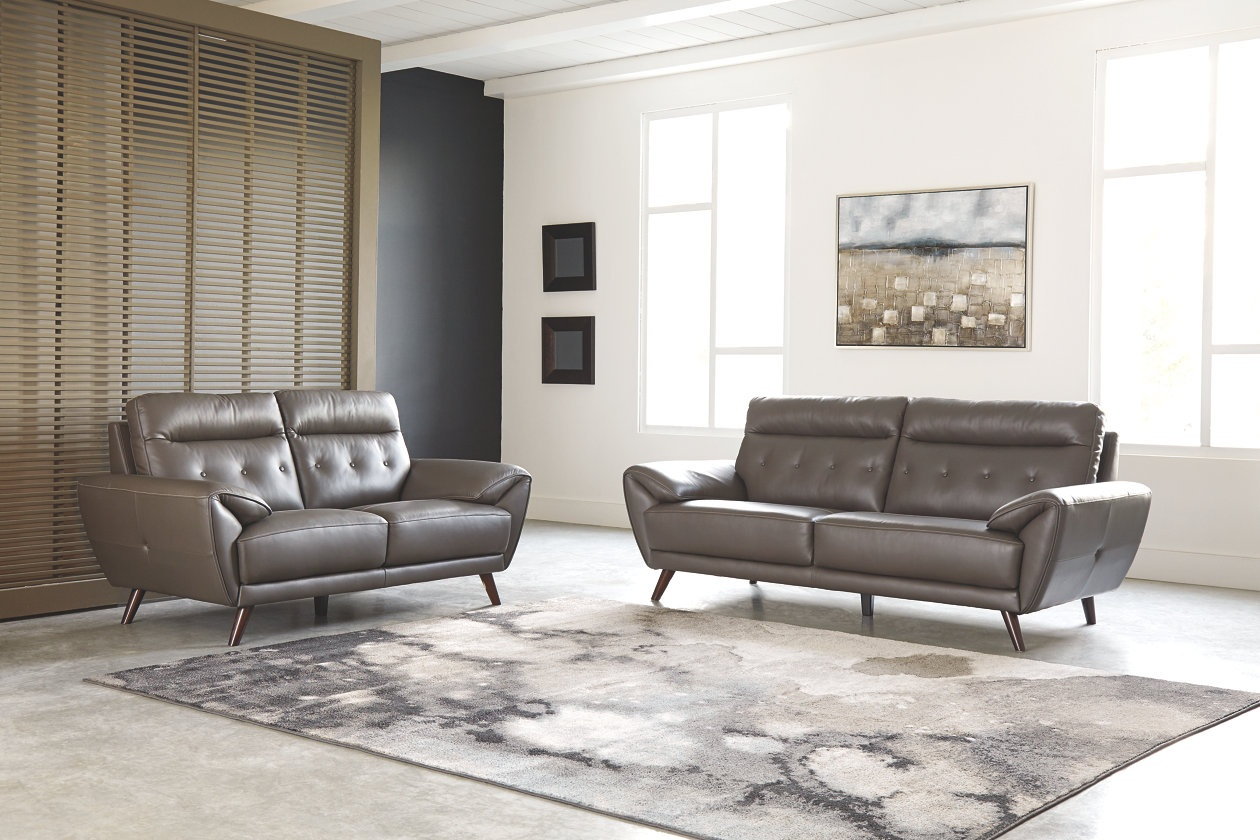 (346) Sissoko Living Room Set 100% Leather Match