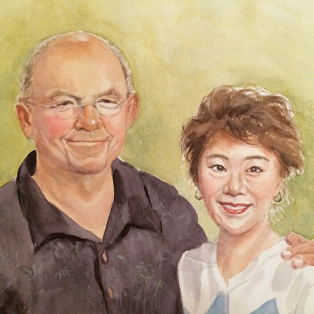 Commission a portrait in watercolor by Satomi Kamei.