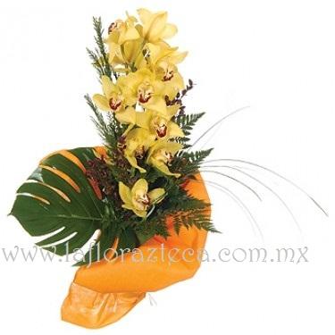 MD - 127  $1,280 Bouquet de orquídeas cimbidium con follaje fino