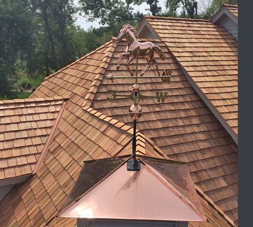Copper Cupola Roof with Weather  Vane