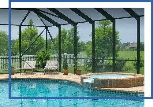 Pool In A Secured Enclosure
