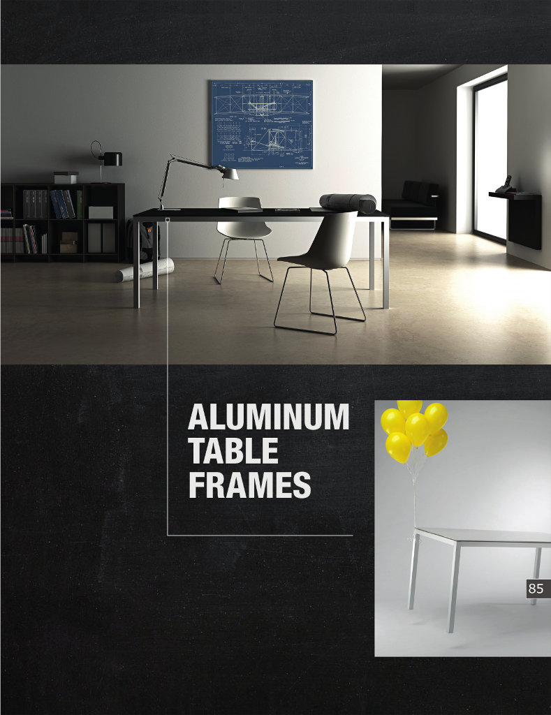 Aluminum Table Frames - Scilm America
