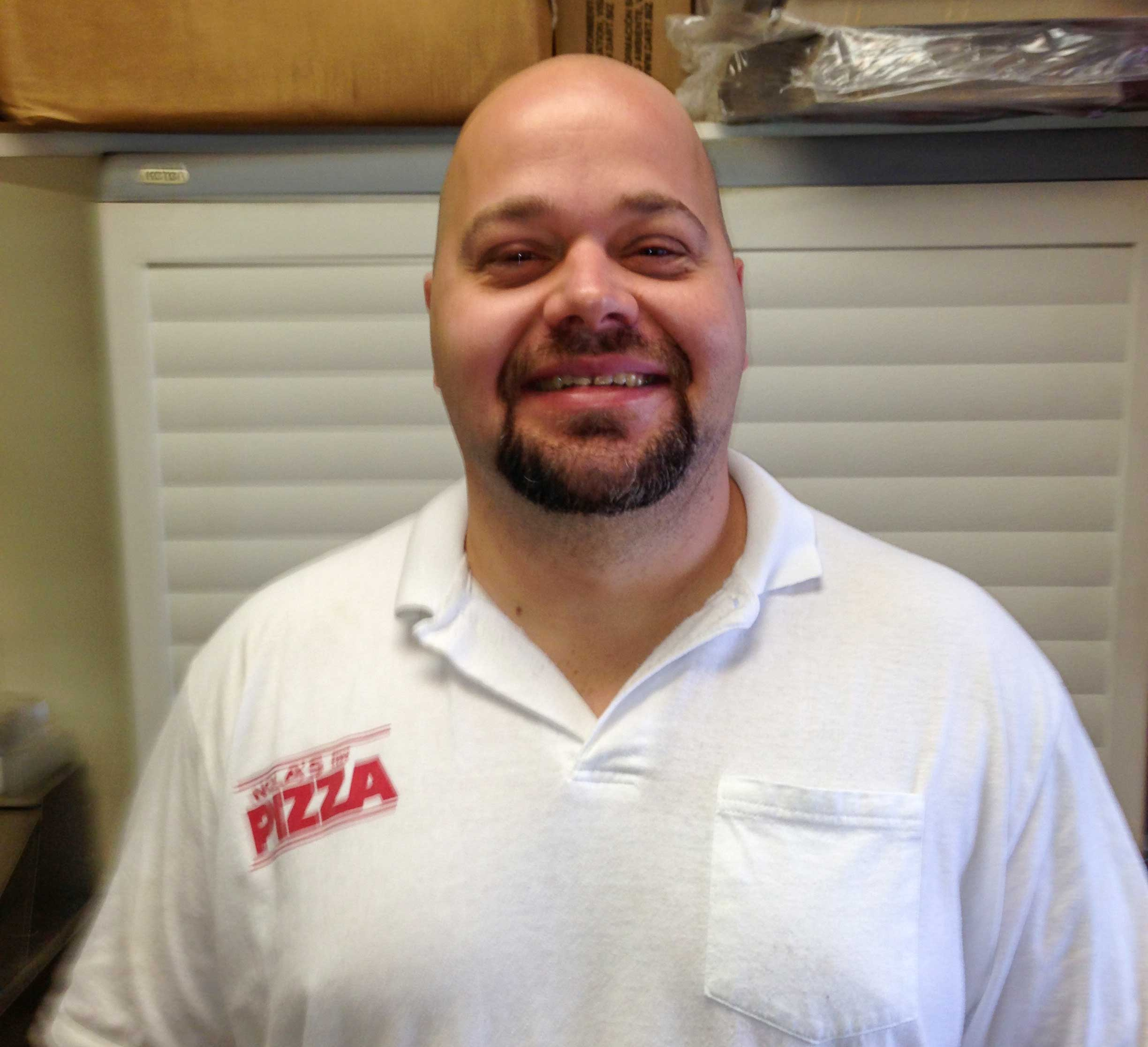James has worked at Nola's on and off since 2000.