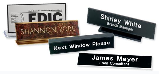 Desk - Door Signs - Badges