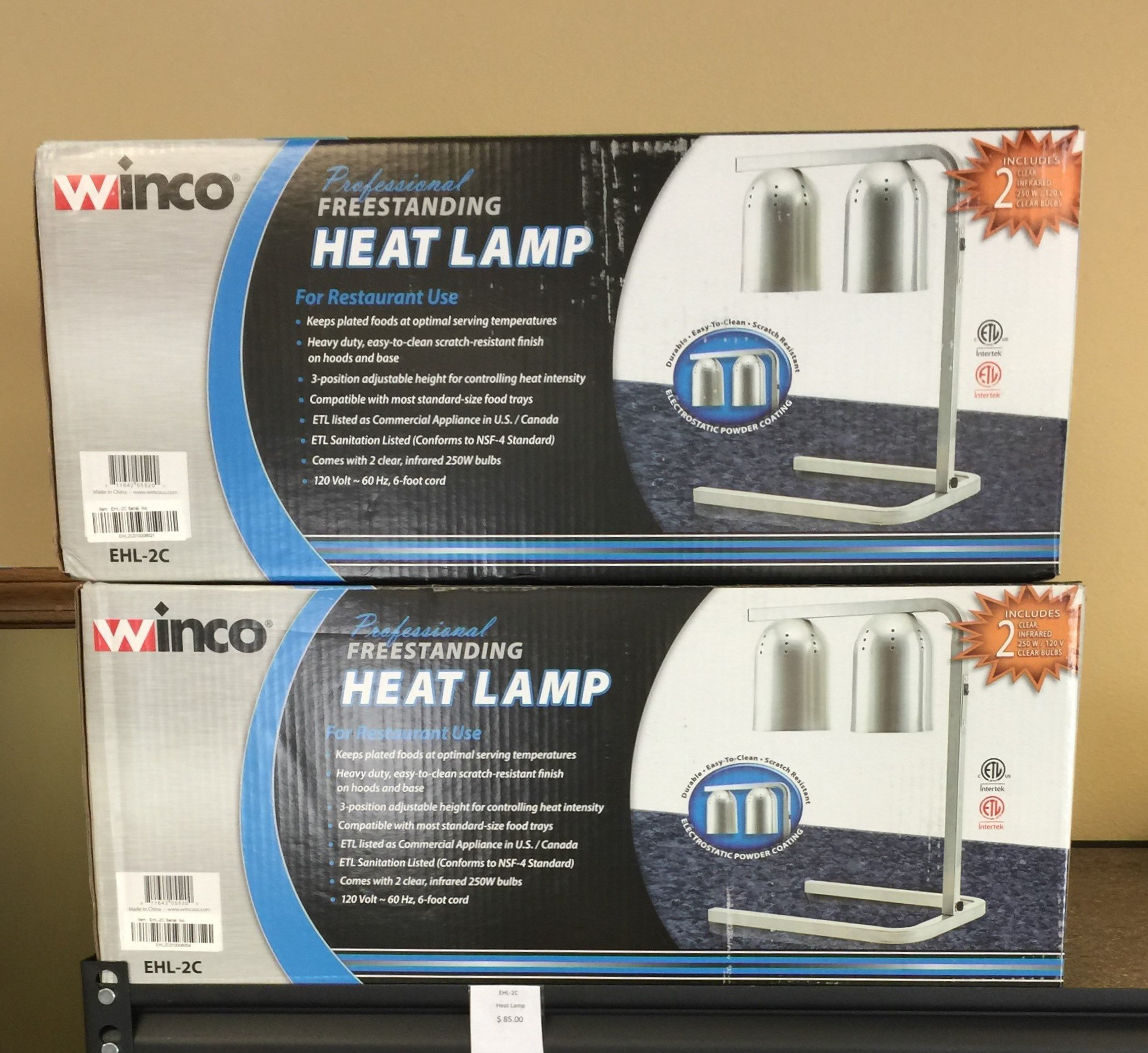 New Winco Heat Lamps $ 85.00