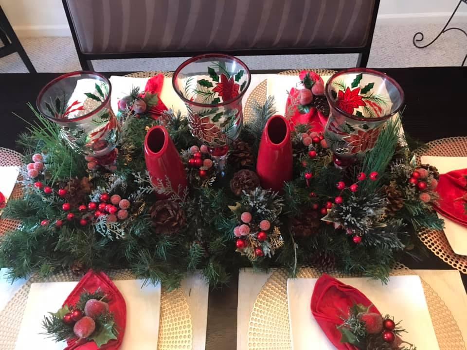 Handmade Christmas Centerpiece