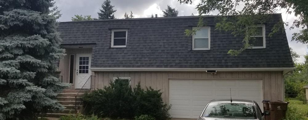 Mansard roof after