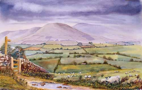 The Fells of Longridge Watercolour - SOLD