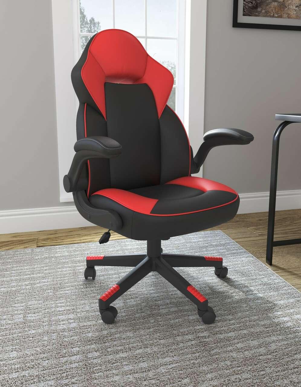 Ashley Lynxtyn Home Office Chair black/red