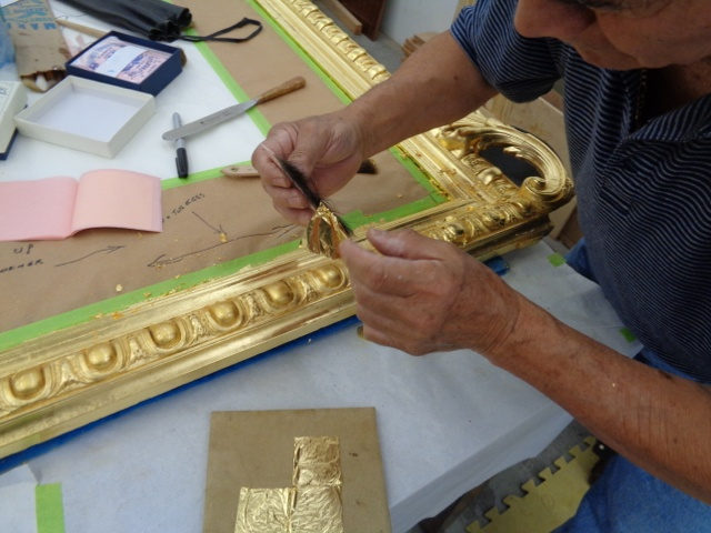 23K Gold Leaf Application