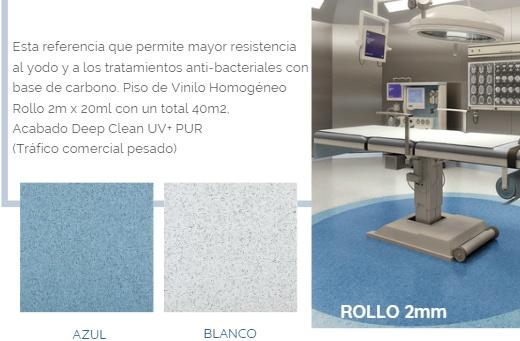 MEDIESTEP CONDUCTIVO:   Piso en Rollo, especial para salas de cirugía, cuartos técnicos y  laboratorios .