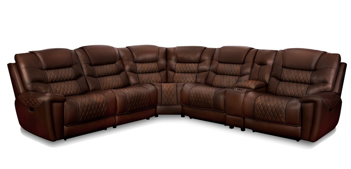 98811 Reclining Sectional Tobacco