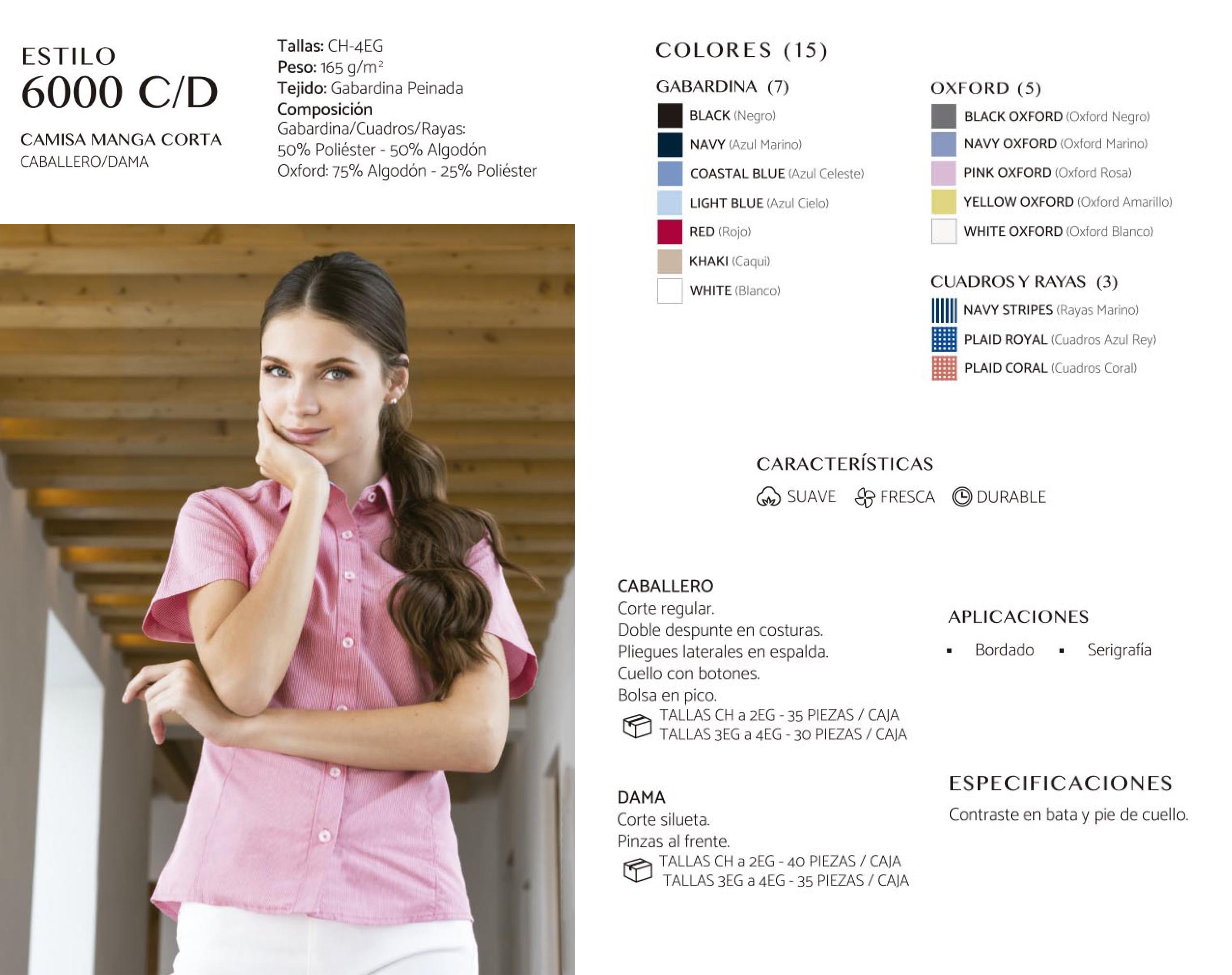 Camisa  Manga Corta 6000 C/D