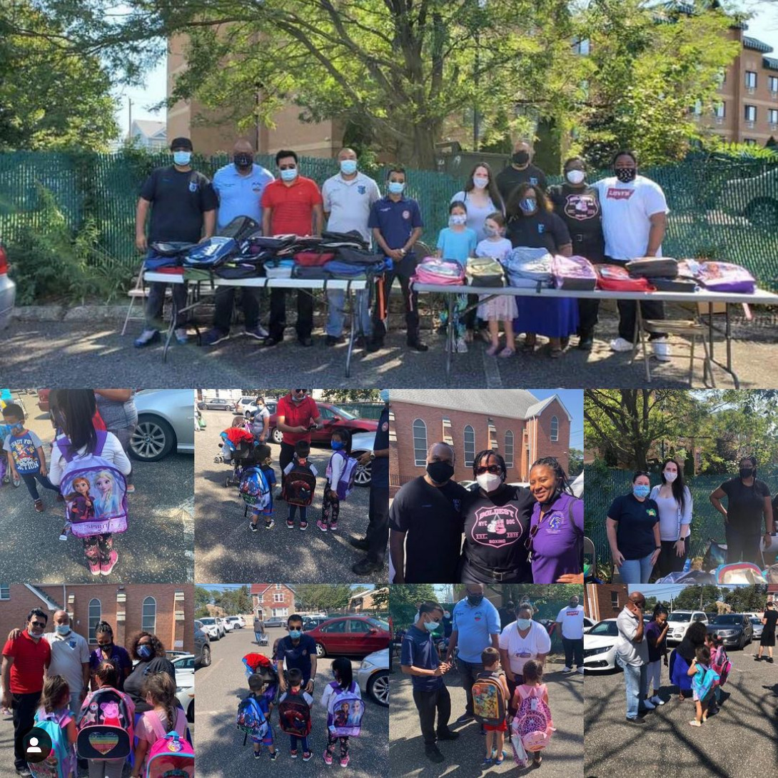 Our annual backpack giveaway