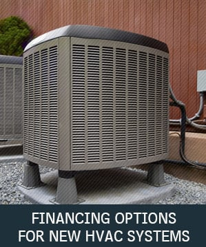 A new HVAC system a Shriver Mechanical customer purchased using one of Shriver Mechanical's available financing options