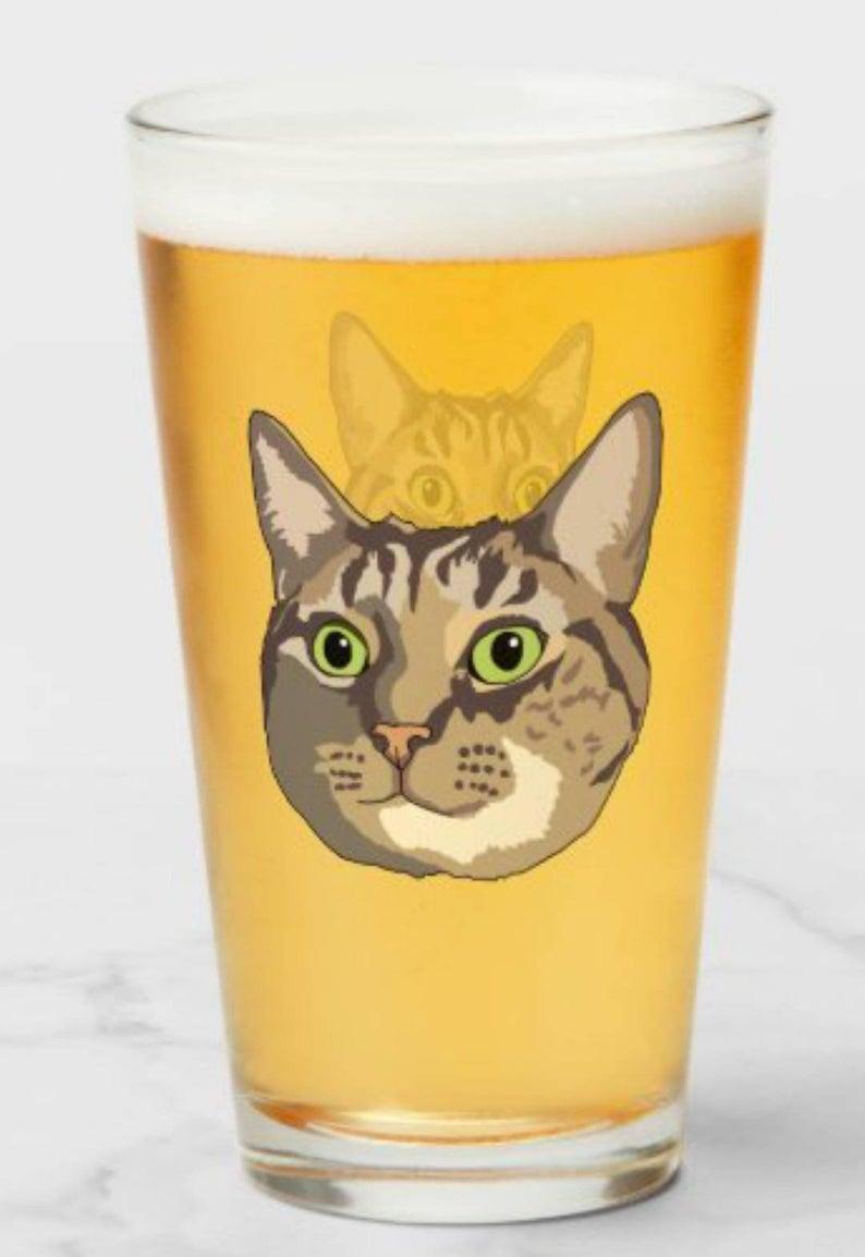 Custom Cat Pint Glass