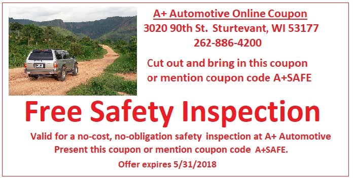 Free Safety Inspection Coupon