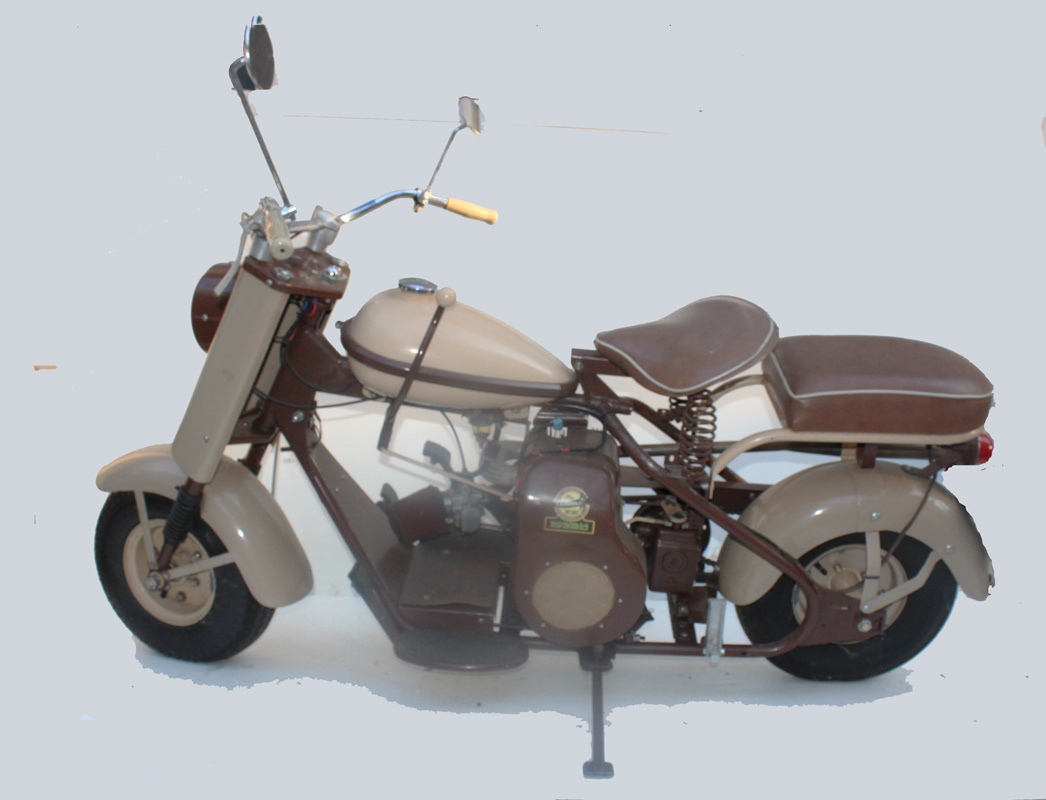 Small Motorcycle - beige & brown