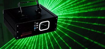 1 w Green diode laser  Dmx 14 ch operation