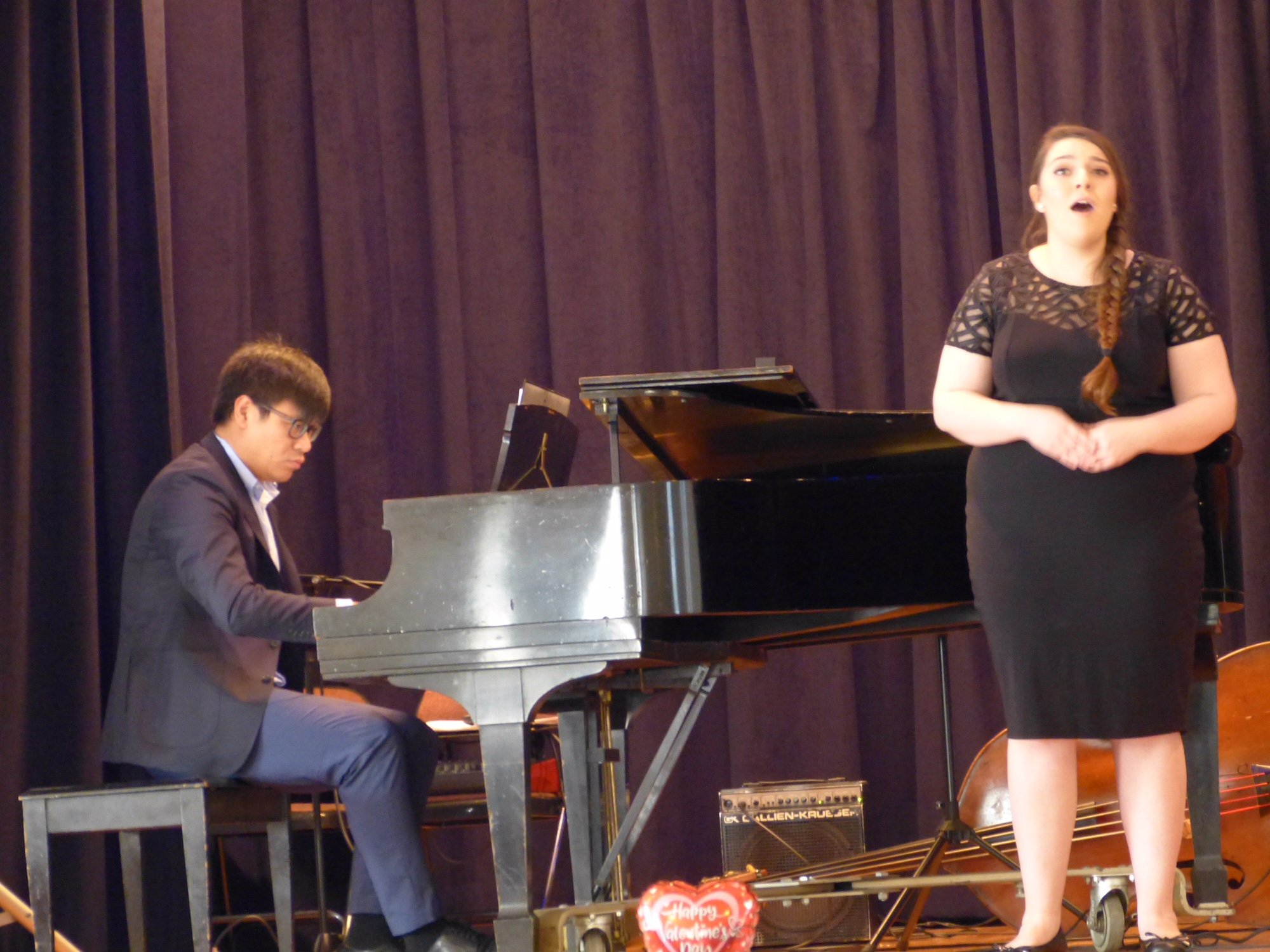 Kayla Sandavo and her accompanist, Hao Wu