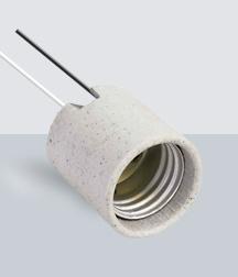 SY-502 Portalámpara Porcelana con Cables