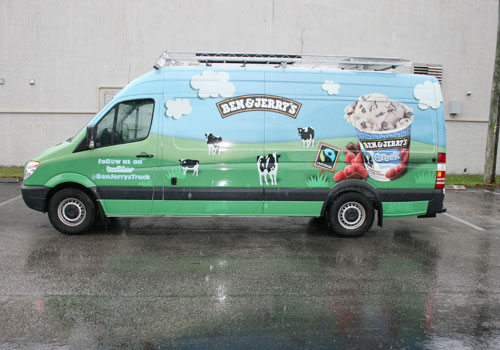 Ben and Jerry's Service Van